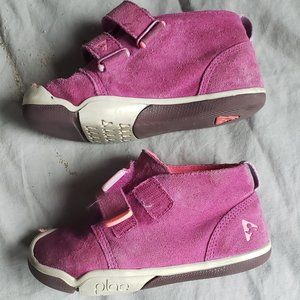 Plae Lou Suede Magenta Bootie Hi-Top shoes Size 10